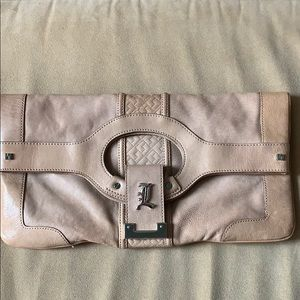 L.A.M.B. Treviso leather clutch